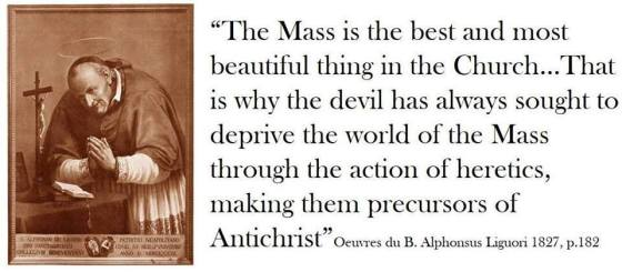 alphonsus on the mass and the anti christ