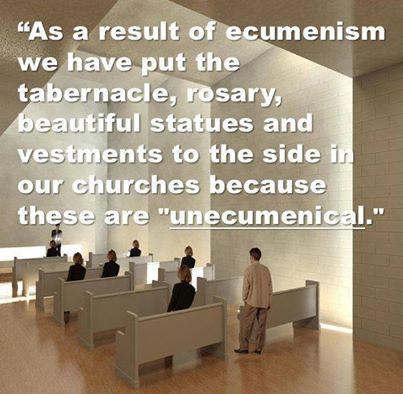 Ecumenism is Heresy. Extra ecclesiam nulla salus!