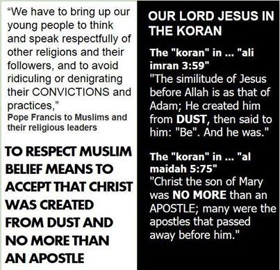 muslim koran what they say about Jesus