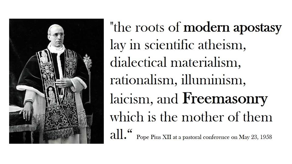 Image result for freemason praises pope francis
