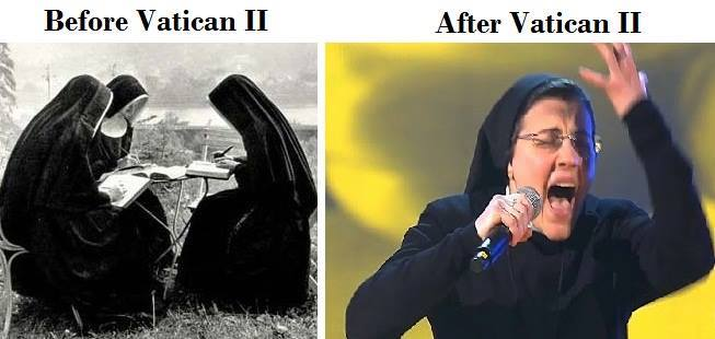 Nuns before & after Vatican II