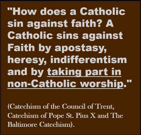 Ecumenism sin against faith