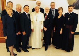 francis and protestant group photo