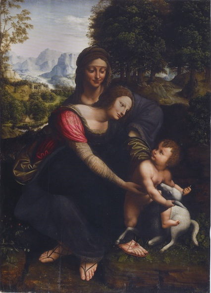 st anne da vinci virgin and child Jesus