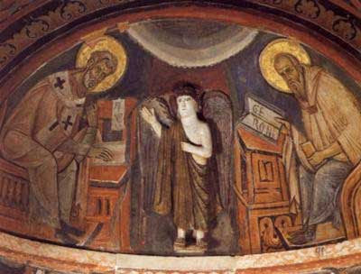 Sts Abdon and Sennen in the church of St. Mark, Rome