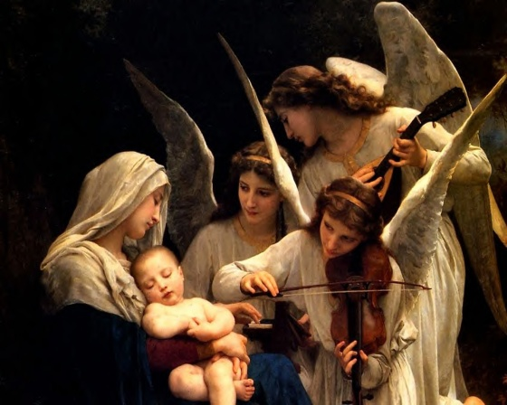 blessed virgin mary with angels 2