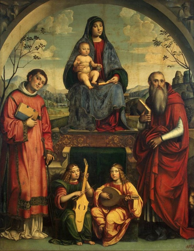 st lawrence - Madonna and Child with Sts Lawrence and Jerome