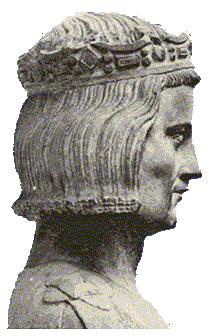 ST LOUIS IX Representation of Saint Louis considered to be true to life, early 14th century