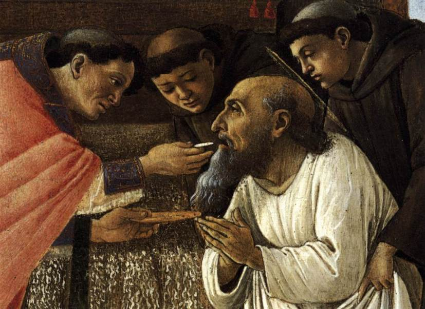 Last Communion of St. Jerome - Sandro-Botticelli