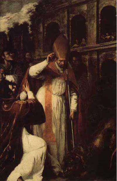 Sept 19 The_Martyrdom_of_St_Januarius_in_the_Amphitheatre_at_Pozzuoli