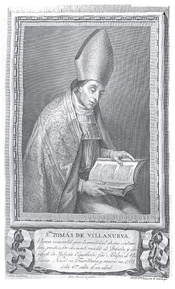 Sept 22 Saint Thomas of Villanova, Bishop and Confessor