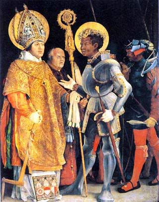saint maurice men Saint maurice: martyr, black saint and knight commander chivalry is only a name for that general spirit or state of mind which disposes men to.
