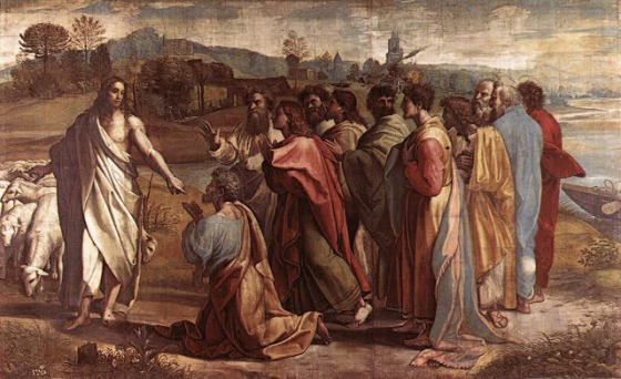 Handing over of the keys  - Raffaello Sanzi (Raphael)