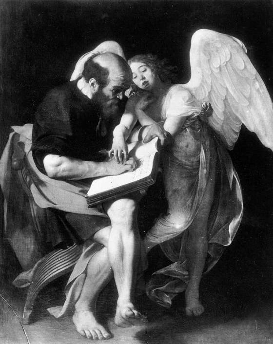 St. Matthew and Angel -  CARAVAGGIO