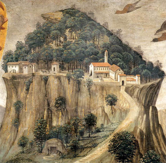 Stigmata of Saint Francis (Detail) 1482-85 (Detail)  Mount La Verna in the Tuscan province of Arezzo