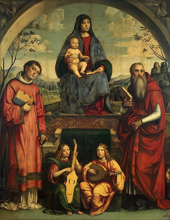 The Virgin and the Child with St Lawrence and St Jerome.