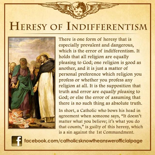 HeresyIndifferentism