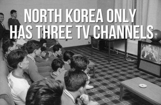 North Korean officials executed 'for watching South Korean TV soap operas' only have 3 channels to choose from!!