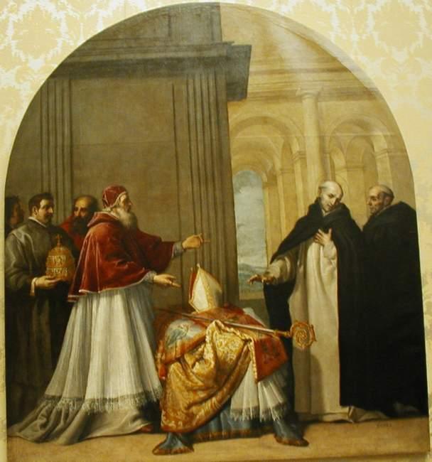 St Bruno - Saint Bruno refuses the archbishopric of Reggio di Calabria, by Vicente Carducho, Chartreuse of el Paular.