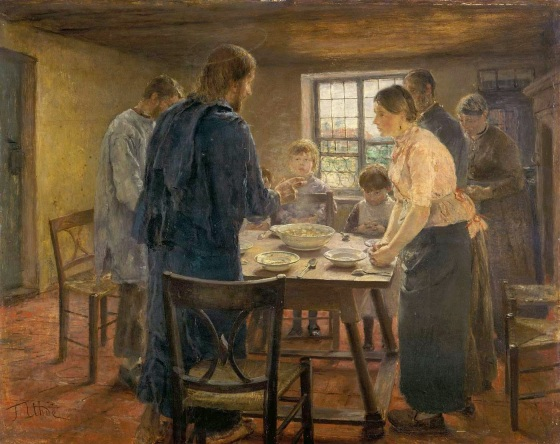 Christ with a Farmer's Family (1887-8)