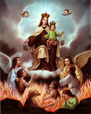 holy souls in purgatory - OUR LADY OF MOUNT CARMEL