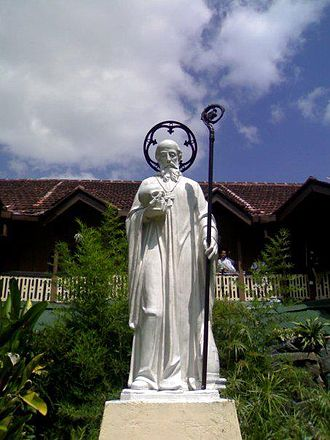 November 26  Statue of Sylvester Gozzolini at St. Sylvester's College Kandy Sri Lanka