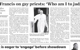 Who am I to Judge Gay Priests?? Anathema sit!
