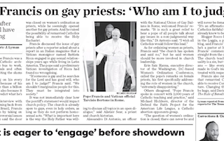 Who am I to Judge Gay Priests?? Anathema sit!