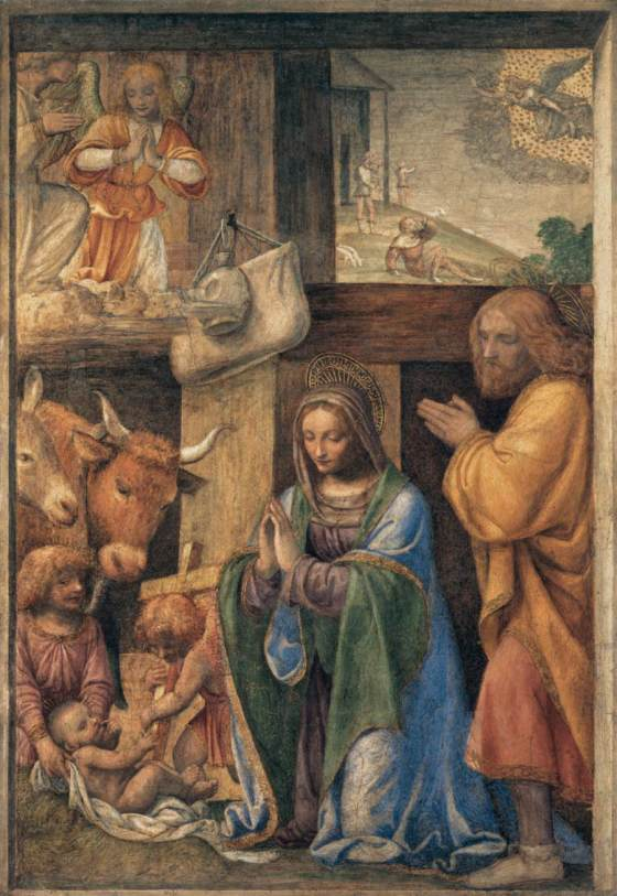Nativity and Annunciation to the Shepherds