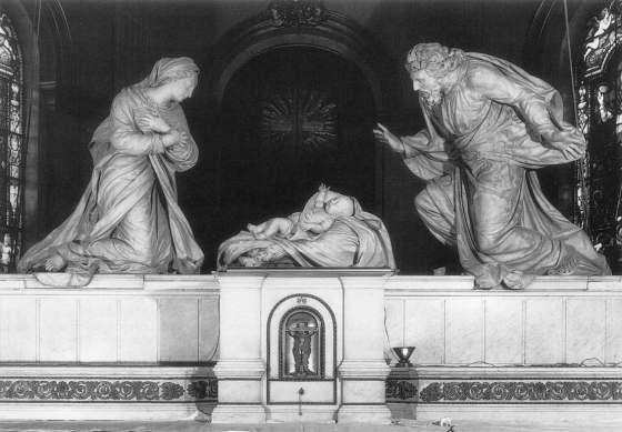 Nativity - ANGUIER, Michel - Marble