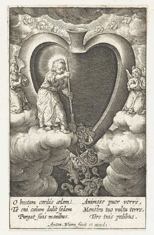 The Christ Child Sweeping a Brood of Reptilian Monsters out of the Believer's Heart with a Broom.
