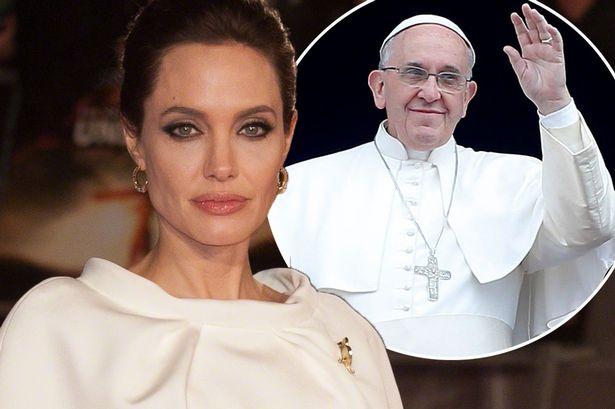 Angelina-meets-Bergoglio