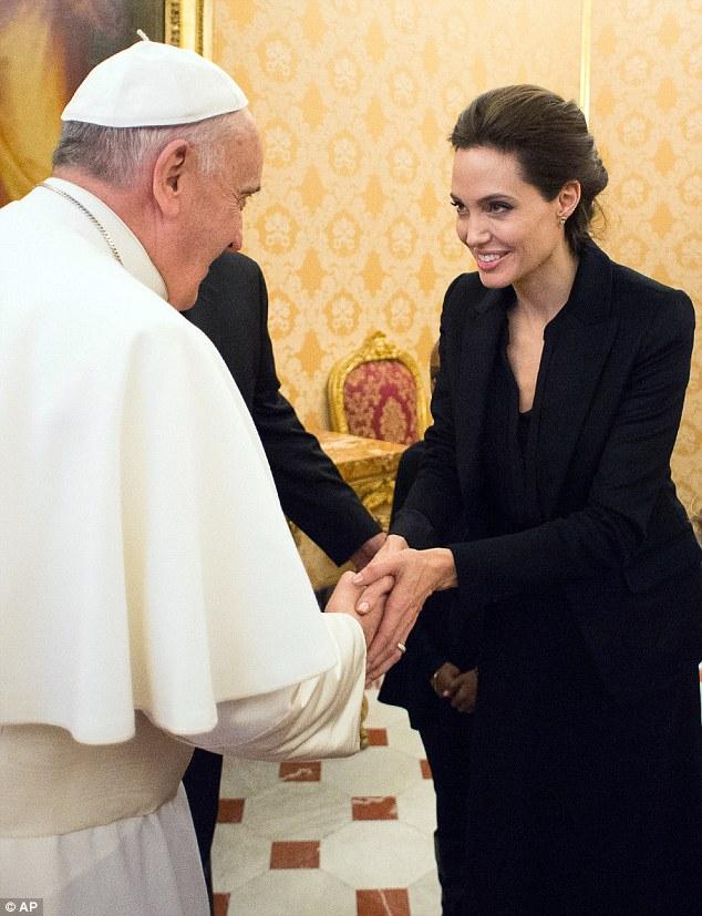 jolie 'Honored' to meet Heretic Bergoglio!!!