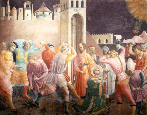 St. Stephen - Paolo Uccello - The Stoning of St. Stephen