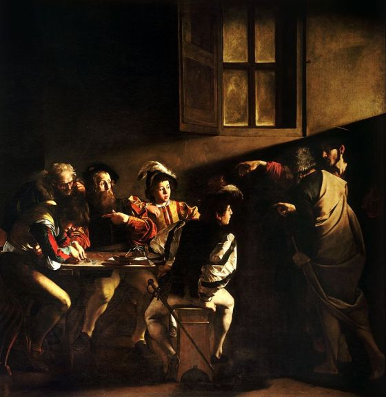 The Calling of Saint Matthew Caravaggo - 1599-1600