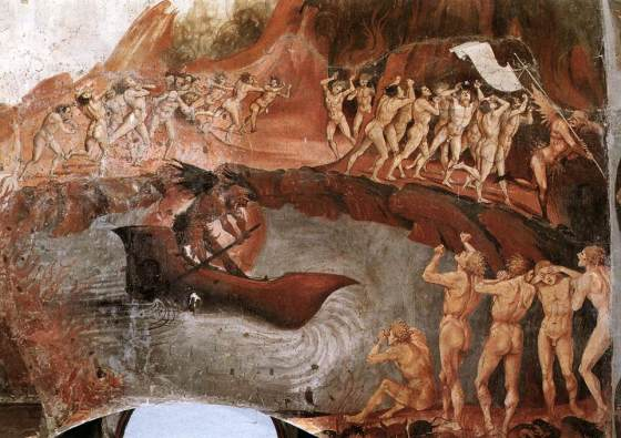 The Damned Being Plunged into Hell (detail) - Signorelli, Luca 1499-1502 Fresco