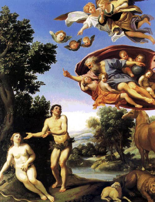 Adam and Eve - Domenichino (1623-25) Oil on canvas Musée des Beaux-Arts, Grenoble