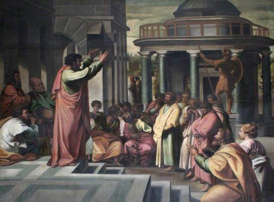St Paul preaching at Athens - Raphael