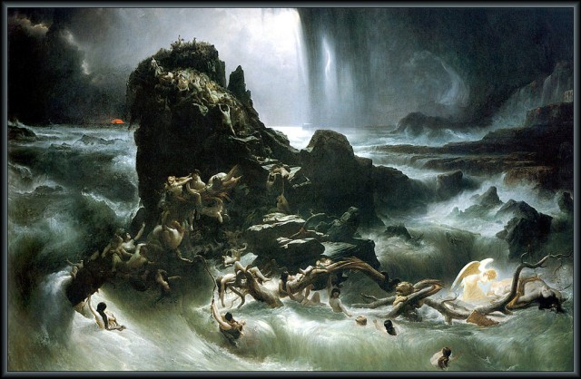 The Deluge - Francis Danby (1793–1861) oil painting in the Tate Gallery, London