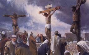 chief priests mocking, said...He saved others; himself he cannot save.  Let Christ the king of Israel come down now from the cross