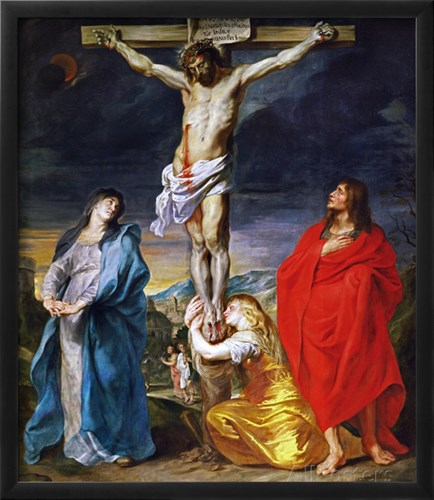 Christ Crucified with the Virgin, Saint John and Mary Magdalene - Van Dyck, Sir Anthony