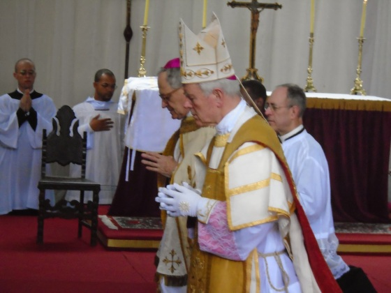 His Excellency Bishop Williamson and Bishop Faure    (Photo credit) - Non Possumus