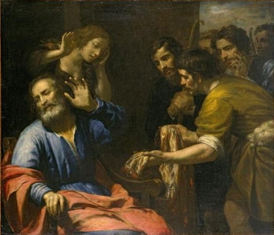 Joseph's Coat Brought to Jacob - by Giovanni Andrea de Ferrari, c.1640