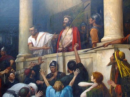 Pilate  releases Barabbas unto them - and when he had scourged Jesus, he delivered him to be crucified