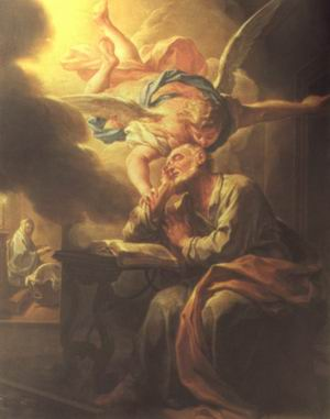 """Saint Joseph's Dream"" by Francesco Trevisani"