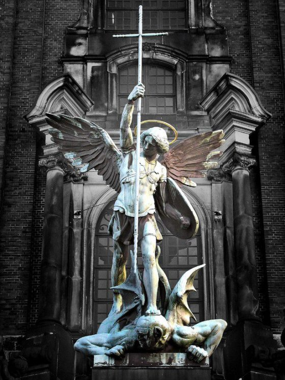 ST MICHAEL DEFEND US IN BATTLE...