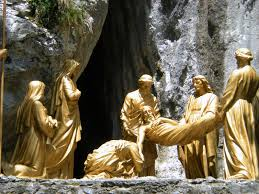 Way of the Cross - And Joseph buying fine linen, and taking him down, wrapped him up in the fine linen, and laid him in a sepulchre which was hewed out of a rock.