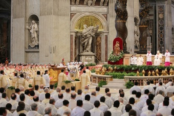 "Bergoglio compared priests' weariness to ""incense which silently rises up to heaven""."