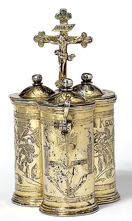 Chrismatory for ritual oil from Germany, 1636