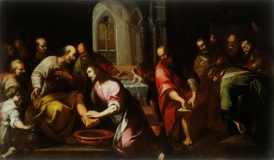 CHRIST WASHING FEET OF THE APOSTLES 17 CENT.